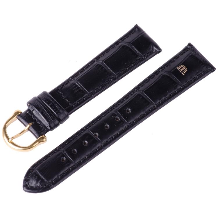 740bd7607fe03 Maurice Lacroix Watch Strap Louisiana Croco-Calf Black