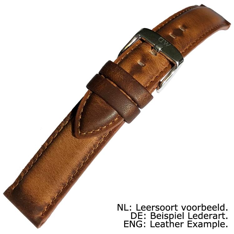 Daniel Wellington 17mm Dapper Durham Brown Leather Watch Strap