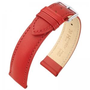 Hirsch Kent Artisan Watch Band Italian Calf Skin Red