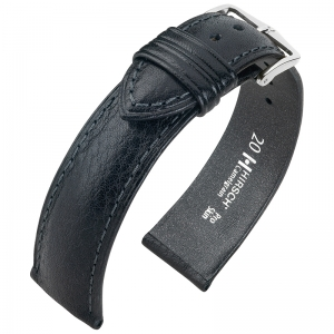 Hirsch Camelgrain Watch Band Pro Skin Allergy Free Black