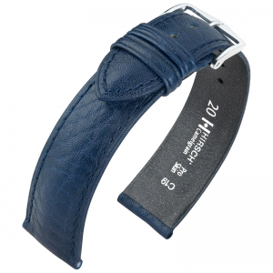 Hirsch Camelgrain Watch Band Pro Skin Allergy Free Blue