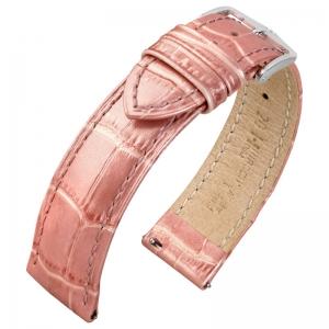 Hirsch Duke Watch Band Alligatorgrain Metallic Pink Limited Edition