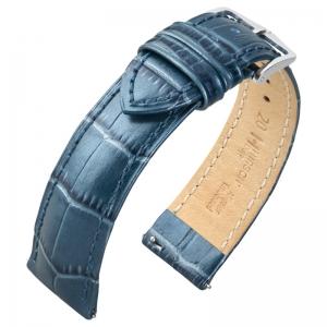 Hirsch Duke Watch Band Alligatorgrain Metallic Blue Limited Edition