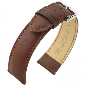 Hirsch Merino Artisan Watch Band Nappa Sheep Skin Brown