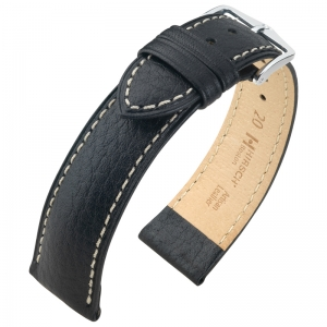 Hirsch Boston Watch Strap Buffalo Calf Black