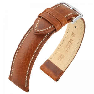 Hirsch Boston Watch Strap Buffalo Calf Brown
