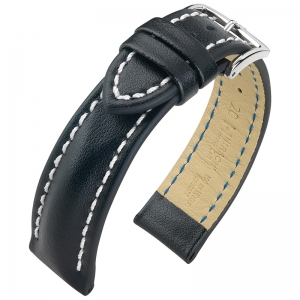 Hirsch Heavy Calf Water-Resistant Watch Band Black