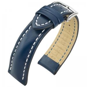 Hirsch Heavy Calf Water-Resistant Watch Band Blue