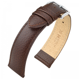 Hirsch Kansas Watchband Buffalograin Brown