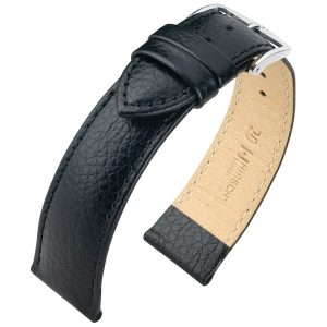 Hirsch Kansas Watchband Buffalograin Black