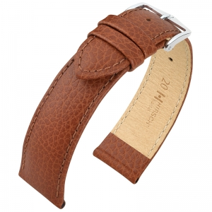 Hirsch Kansas Watch Strap Buffalograin Golden Brown