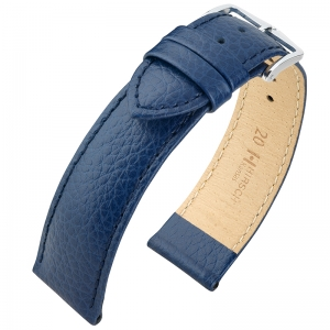Hirsch Kansas Watchband Buffalograin Blue