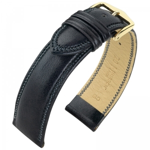 Hirsch Ascot Watch Band British Calf Skin Black