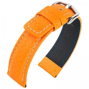 Hirsch Carbon Watch Band 100 m Water-Resistant Orange