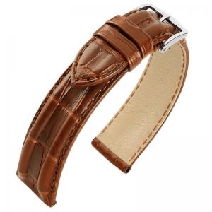 Hirsch San Francisco Louisiana Alligator Skin Watch Band Semi-Matte Golden Brown