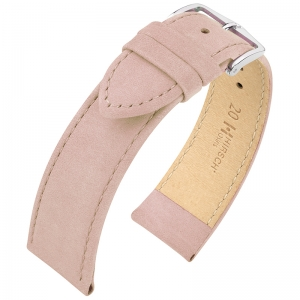 Hirsch Nubuck Osiris Watch Strap Leather Rose
