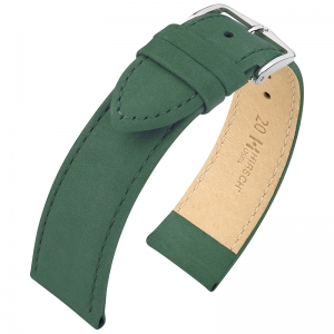 Hirsch Nubuck Osiris Watch Strap Leather Green