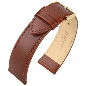 Hirsch Osiris Watch Band Box Leather Brown