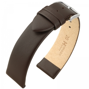 Hirsch Toronto Watch Strap Italian Calf Skin Brown