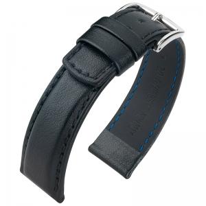 Hirsch Runner Waterproof Watch Band Calf Skin Black