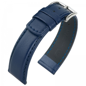 Hirsch Runner Waterproof Watch Band Calf Skin Dark Blue