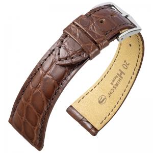 Hirsch Regent Watch Band Premium Alligator Flank Matte Brown