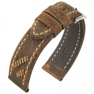 Hirsch Lynyrd Watch Strap Kudu Antelope Skin Matte Brown