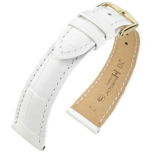 Hirsch London Watch Strap Alligator Skin Matte White