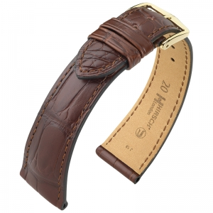 Hirsch London Watch Strap Alligator Skin Matte Brown