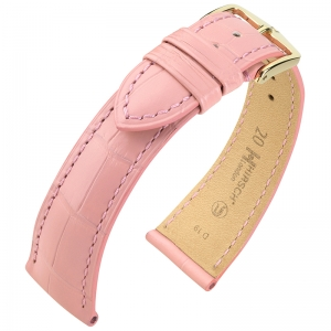 Hirsch London Watch Strap Alligator Skin Matte Light Pink