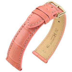 Hirsch London Watch Strap Alligator Skin Matte Pink