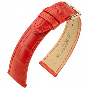 Hirsch London Watch Strap Alligator Skin Matte Red