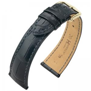 Hirsch London Watch Strap Alligator Skin Matte Black