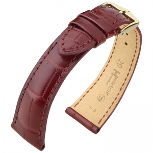 Hirsch London Watch Strap Alligator Skin Matte Burgundy