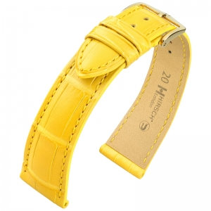 Hirsch London Watch Strap Alligator Skin Matte Yellow
