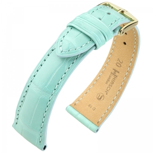 Hirsch London Watch Strap Alligator Skin Matte Light Blue