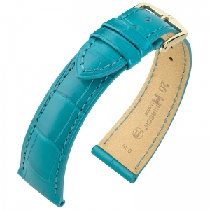 Hirsch London Watch Strap Alligator Skin Matte Turquoise