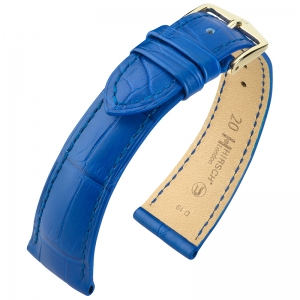 Hirsch London Watch Strap Alligator Skin Matte Royal Blue