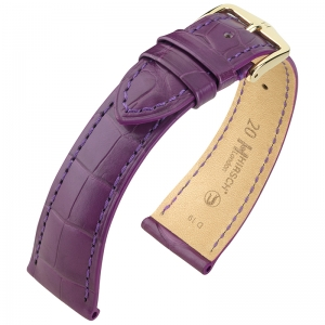 Hirsch London Watch Strap Alligator Skin Matte Violet