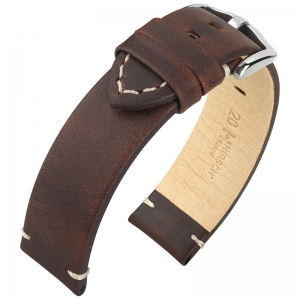 Hirsch Ranger Watch Strap Calf Skin Dark Brown