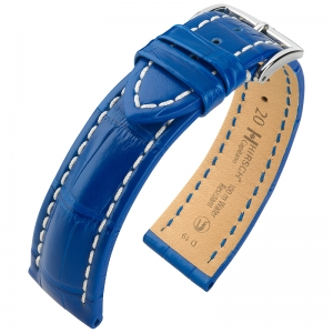 Hirsch Capitano Louisiana Alligator Watch Strap Semi-Matte Ocean 100m WR