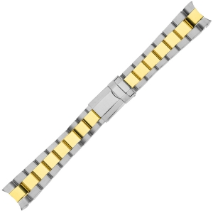 Oyster Watch Bracelet 'type Rolex' Bicolor Stainless Steel 20mm