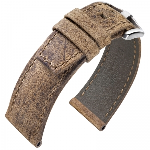 Hirsch Tritone Watch Strap for Panerai Kudu Antelope Skin Matte Brown