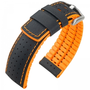 Hirsch Robby Performance Collection Black/Orange Leather/Caoutchouc 300m WR