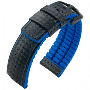 Hirsch Ayrton Performance Collection Black Leather /Ocean Blue Rubber