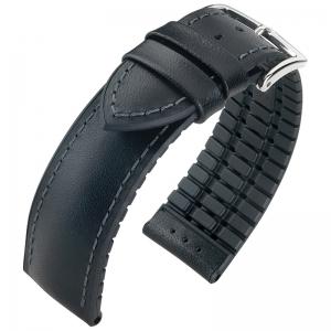 Hirsch James Performance Collection Black Leather/Caoutchouc 300m WR