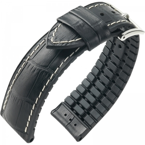 Hirsch George Performance Collection Black Leather/Rubber White Stichting 300m WR