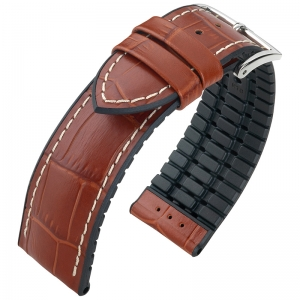 Hirsch George Performance Collection Golden Brown/Black Leather/Rubber 300m WR