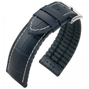 Hirsch George Performance Collection Blue/Black Leather/Rubber 300m WR