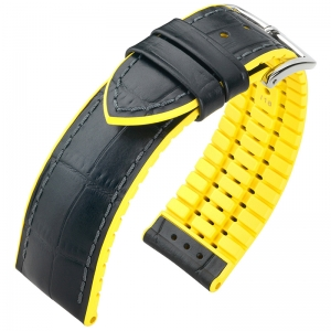 Hirsch Andy Performance Collection Black/Yellow Leather/Rubber 300m WR